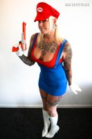 super mario cosplay girl by mrswhitetrash