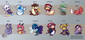 My OCs Chibi Set 1 by PhuiJL