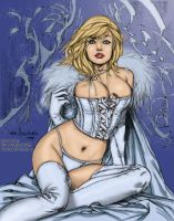 Emma Frost teasing by powerbook125