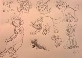 traditional ink doodles: possible commissions by NekoMangaka