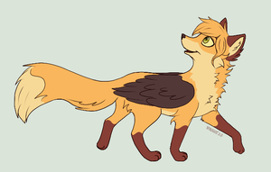 Winged fox by Vilina
