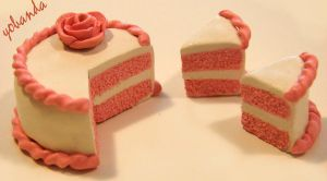Cute And Simple Pink Cake by yobanda