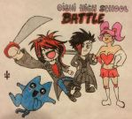 Oishi High School Battle by bewitchedgirl