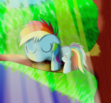 Dashie is the Master of Napping by SpellboundCanvas