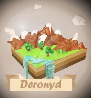 Low-poly mountains by Deronyd