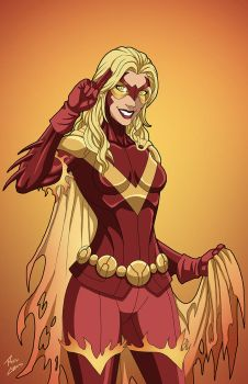 Flamebird (Earth-27) commission by phil-cho
