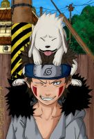 Kiba and Akamaru - Naruto 190 by demonoflight
