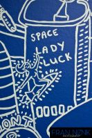 ActionRED Mural (Space Lady Luck) by JeffreyHamesGallery