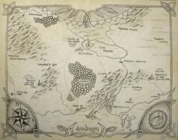 Map of Audnyn by SylvaKnight