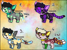 Robocat Adoptables 2 - CLOSED by Fjord-Adopts