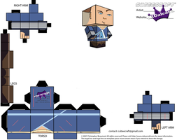 Cubeecraft of Sokka Avatar the Last Airbender PT1 by SKGaleana