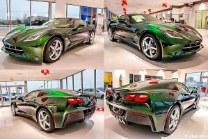 Lime Rock Green Metallic Stingray Corvette. by JDM4CHRIST