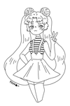 sailor moon b/w by pancok