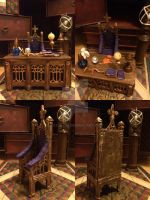Dumbledore's desk and chair by KatjaFin