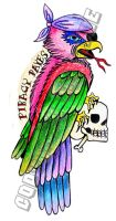 Piracy Pays Tattoo Flash by neonpaledead