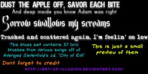 A7X Lyric Brushes by Art-of-Illusion