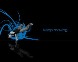Keep Moving Blue Version by itsyouforme