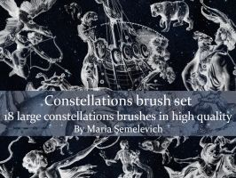 Constellations brush set vol.1 by MariaSemelevich
