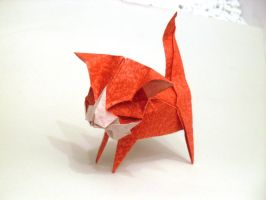 Origami Cute Kitten by Orestigami