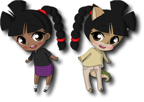 Chibi Andelinas by juanito316ss