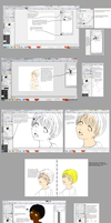Anime Colour Tutorial GIMP by SeeInBlackAndWhite