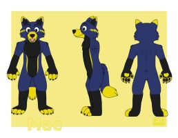Fursuit Concept: 'Mac' by Silverwolf-1ofmany