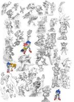 Sonic sketches by Miklche04