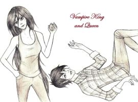 AT: Vampire King and Queen by xviolette16