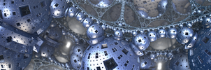 Hanging Garden of Mechanical Atoms (Tri-Screen) by SyntheticMemory