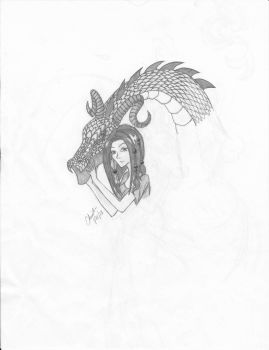 Girl and her Dragon by blackholefairy