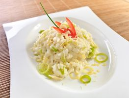 Elephant Garlic Risotto by gescosteguy