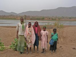 Girls at the Nile, Sudan by Jenvanw