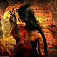 Girl With Violin by Fotomonta