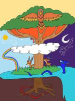 Yggdrasil tree iPad drawing by Roses-and-Feathers