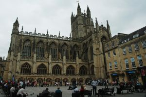 Bath Abbey and Square by EarthHart