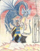Fighting the Dragonlord by Captain-Chaotica