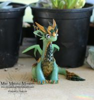 Translucent Green/Jade Dragon Sculpture by MiniMythicalMonsters