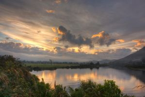 Grey River Sunrise... by Mikelyjohnsono