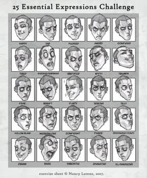 25 Expressions Challenge by solitarium