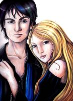 TVD: Damon and Elena by Aleatoire09