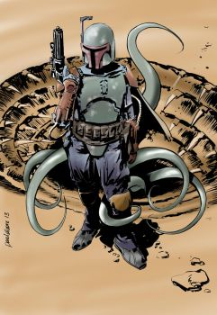 Boba Fett in colour by Paul-Moore