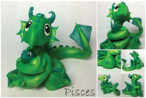 Pisces Dragon (fourth of 12 in series) by lizzarddesigns