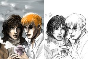 Ric and Shatterstar - in work by Autumn-Sacura
