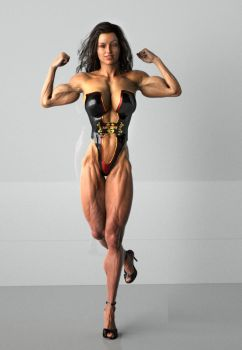 Female Muscle IV by mythosgfx