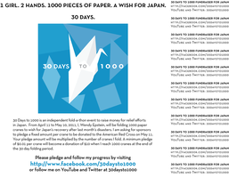 30 Days to 1000 Poster by midori-no-ink