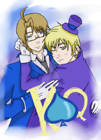 CARDVERSE!APH: King and queen of Spades by DifferentWaysToCry