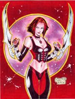 Bloodrayne (#1C) -COLORED- by Rodel Martin by VMIFerrari
