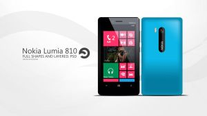 Nokia Lumia 810 PSD by sharkurban