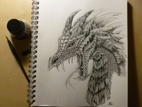 Ink Dragon by Mg-Wolfore