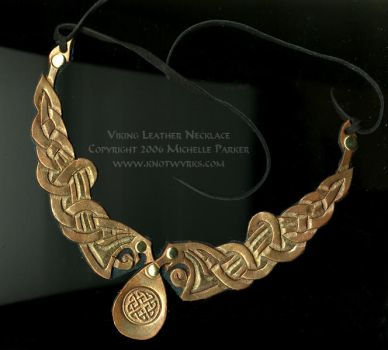 Viking leather necklace by MPFitzpatrick